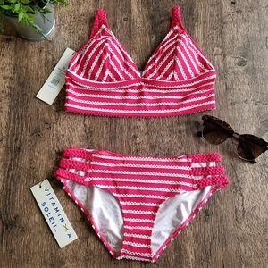 VITAMIN A Braided String Bralette two piece Bikini